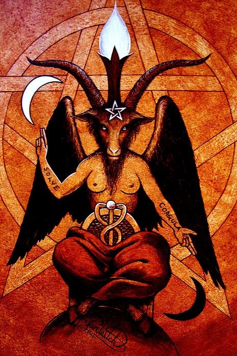 Baphomet, o deus Shiva da tríade hindu, a Monas Hieroglifica de John Dee e oDiabo.